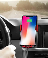 Car Mount Qi Wireless Charger For iPhone XR XS X Max 8 Plus | Fast Wireless Charging Car Holder Stand For Samsung Note 9 S9 S8 - Blissful Delirium