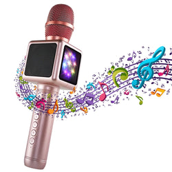 Wireless Bluetooth Karaoke Microphone | Portable Handheld Karaoke Machine with Speaker for Home Party KTV Outdoor