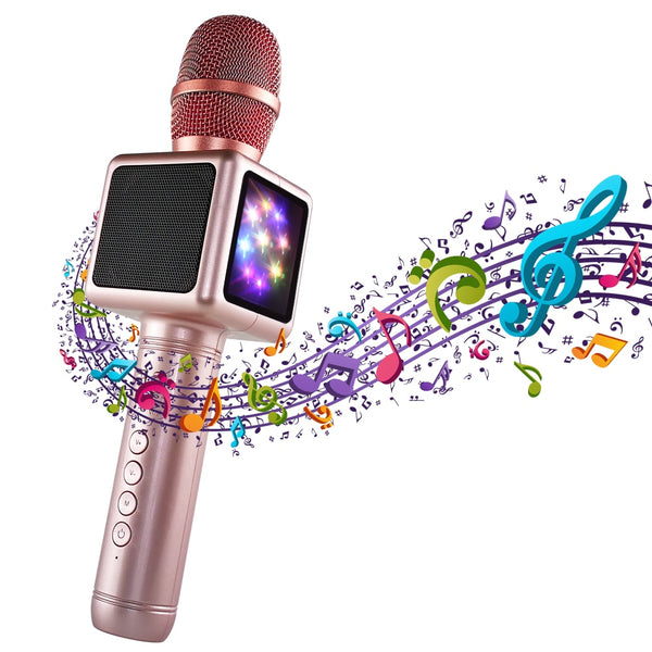 Wireless Bluetooth Karaoke Microphone | Portable Handheld Karaoke Machine with Speaker for Home Party KTV Outdoor - Blissful Delirium