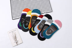 5 pairs Anti-slip Silicone No Show Female Socks - Blissful Delirium
