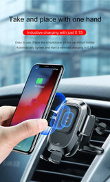 Wireless Car Charger Mount Air Vent Gravity Phone Holder 10W Charging - Blissful Delirium