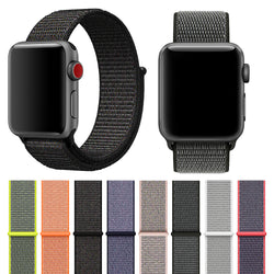 Soft Nylon Sport Loop Compatible for Apple Watch Band 38mm 42mm ,