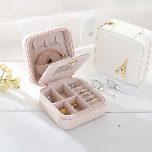 Small Faux Leather Travel Jewelry Box - Blissful Delirium