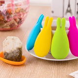 Useful Rabbit Shape Silicone Tea Bag Holder | Hanging Tool | Spoon Holder - Blissful Delirium