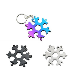 19-In-1 Snowflake Shape Multi-tool Gadget | Compact | Stainless Steel