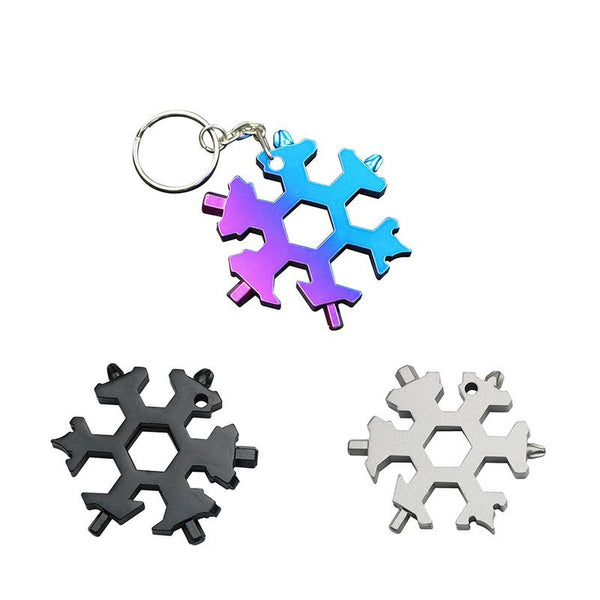 19-In-1 Snowflake Shape Multi-tool Gadget | Compact | Stainless Steel - Blissful Delirium