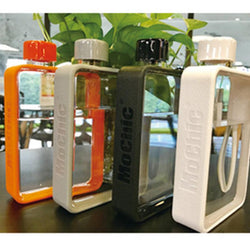 Mochic A5 Flat Water Bottle | Korean Plastic Water Bottle 380ml - Blissful Delirium