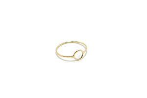 14 yellow gold circle ring - Beach Jewelry Kailua Hawaii