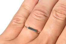 Sterling Silver Horizontal bar ring