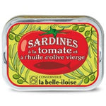 Sardines filets in extra virgin olive oil and tomato - Sardines a l'huile d'olive et a la tomate