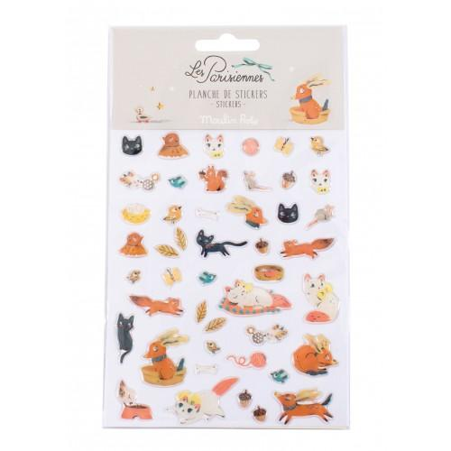 Les Parisiennes - Animal Stickers