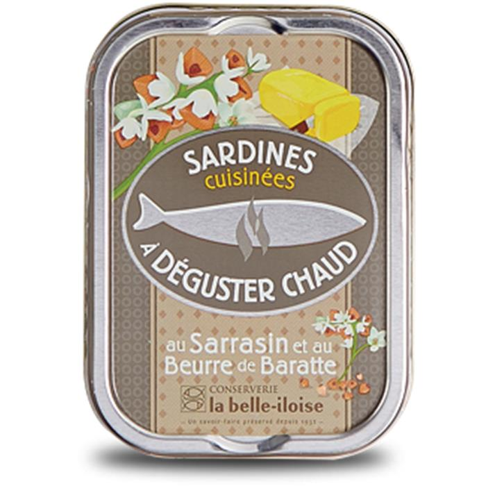 Sardines to eat warm with toasted buckwheat seeds - Sardines au beurre de baratte et sarrasin