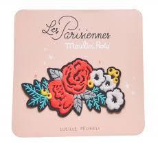 Embroidered Floral iron on Patch - Les Parisiennes