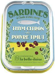 Sardine filets with olive oil, lemon thyme and Timut peppercorns- Sardines a l'huile d'olive, thym citron et poivre Timut