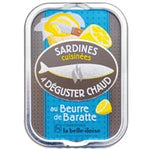 Cooked sardines in churned butter to eat warm - Sardines cuisinées a déguster chaud au beurre de baratte