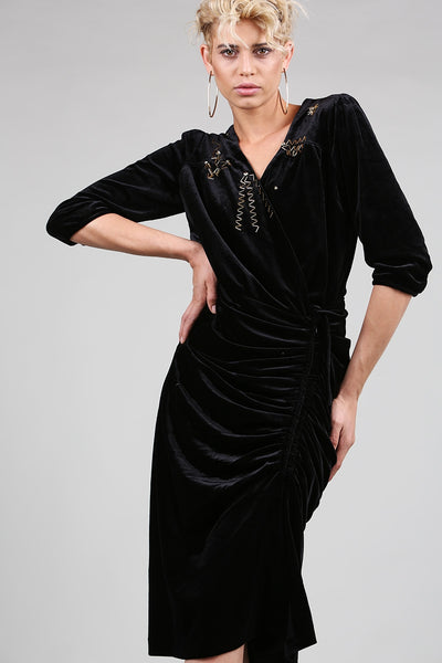 Premium Soft Velvet Dress - namshi dress dubai