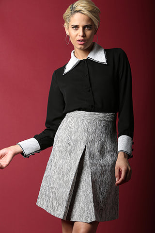 High Waisted Midi Skirt - namshi dress dubai
