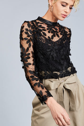 Premium Floral Lace Blouse - namshi dress dubai