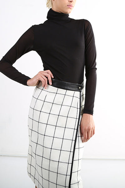 Elise Checked Skirt - namshi dress dubai