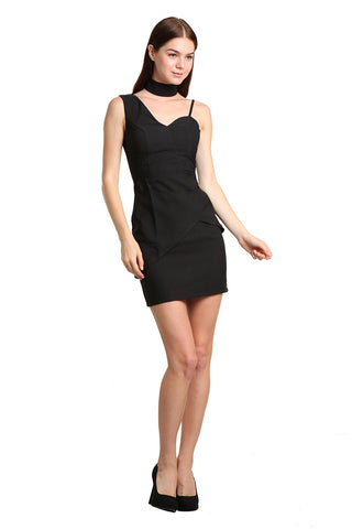 One Shoulder Mini Dress - namshi dress dubai