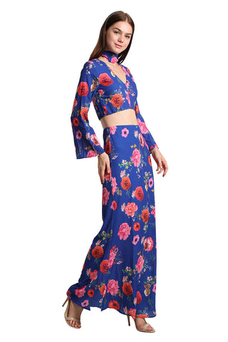 Floral Print Top and Skirt Set - namshi dress dubai