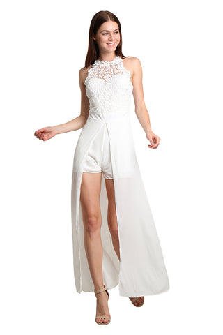 White Dress with Short Detail - namshi dress dubai