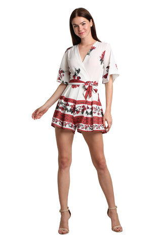 Floral Mini Playsuit - namshi dress dubai