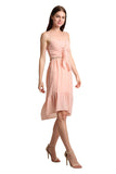 Sleeveless Midi Pink Dress - namshi dress dubai