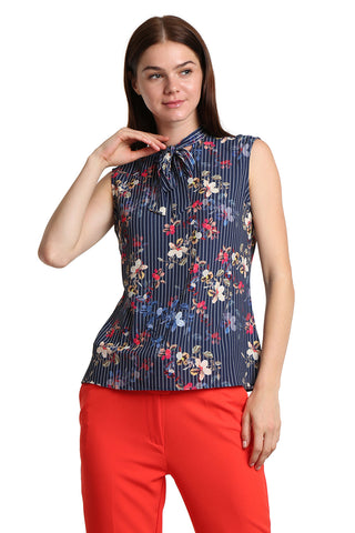 Flowery Sleeveless Shirt - namshi dress dubai