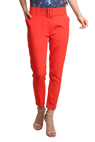Cropped Essential Red Pant - namshi dress dubai