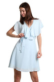 Baby Blue Chiffon Dress - namshi dress dubai