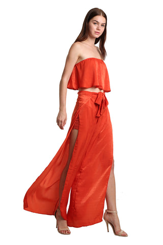 Orange Casual Set - namshi dress dubai