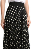 Polka Dotted Midi Skirt - namshi dress dubai