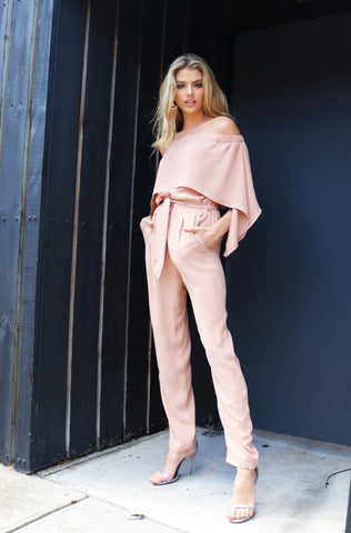 Stella Jumpsuit - Dusty Rose - namshi dress dubai