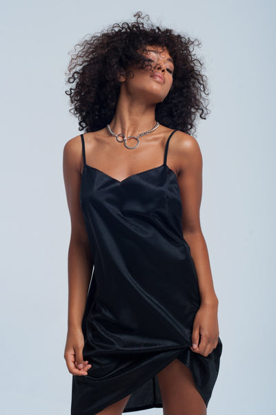 Black Shiny Dress - namshi dress dubai