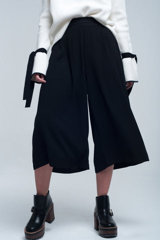 Culotte Pant In Black - namshi dress dubai