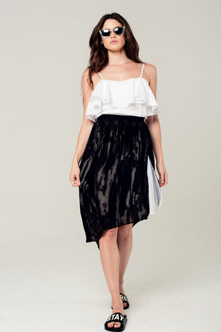 Embroidered Ruffled Crop Top - namshi dress dubai