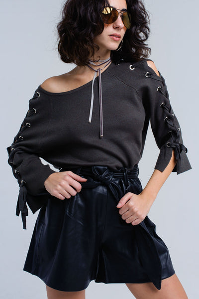 Sweater With Ribbons - namshi dress dubai