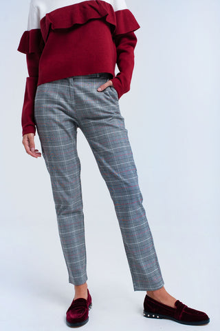 Red Tartan Pants - namshi dress dubai