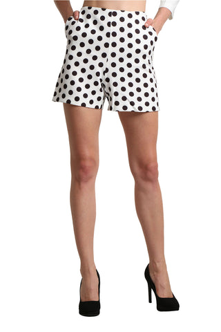 White Short In Polka Dot - namshi dress dubai