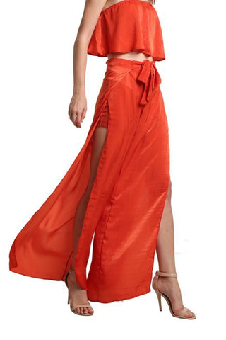 Detailed Short Maxi Skirt - namshi dress dubai