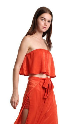 Off-Shoulder Crop Top - namshi dress dubai