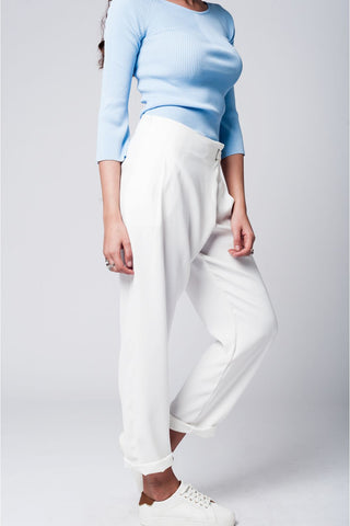 Pants With Crossed Front Detail
