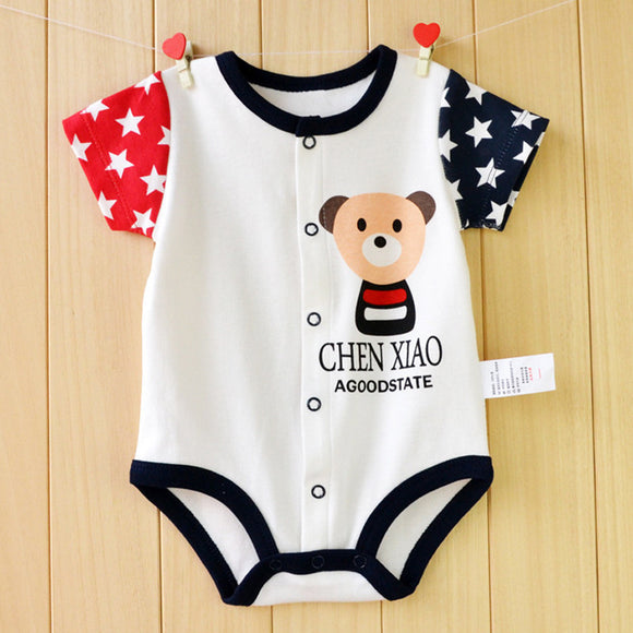 Baby Rompers Summer Baby Girls Clothing Sets Roupas Bebes Cartoon Unisex