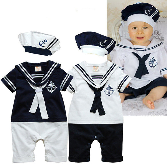 Baby Romper Summer Baby Boy Clothing Sets Navy Style
