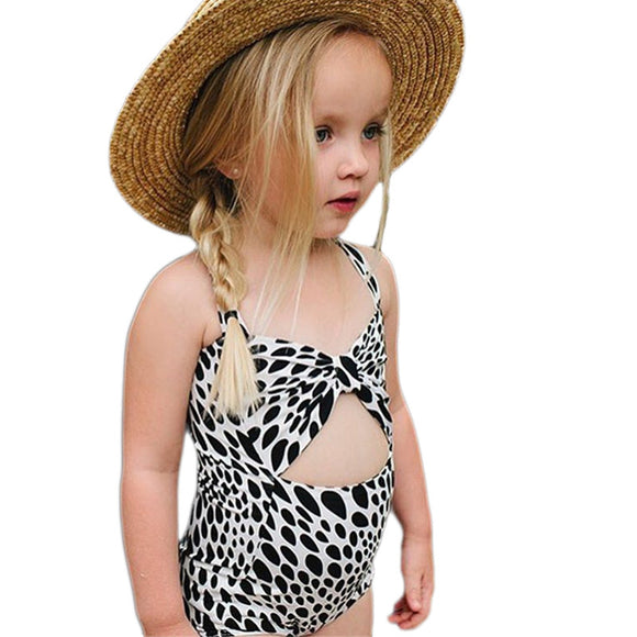 Girl Kid Leopard One Piece Bikini Swimwear Swimsuit Bathing Suit Beachwear 1-6T