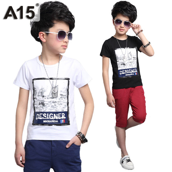 Kids Clothes Boys Short Set T-Shirt Shorts Tracksuit Size 8 10 12 14 Year