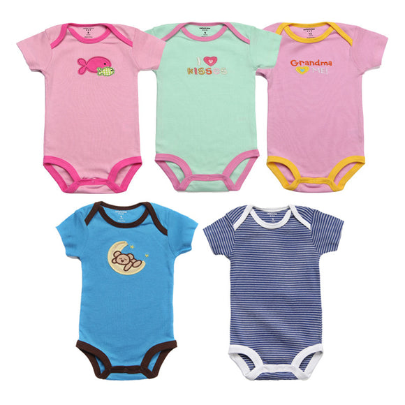 5Pcs Baby Rompers SummerBaby Clothes Unisex Newborn