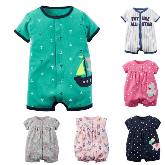 Baby Rompers Summer Baby Girl Clothes and Baby Boys Clothing Sets