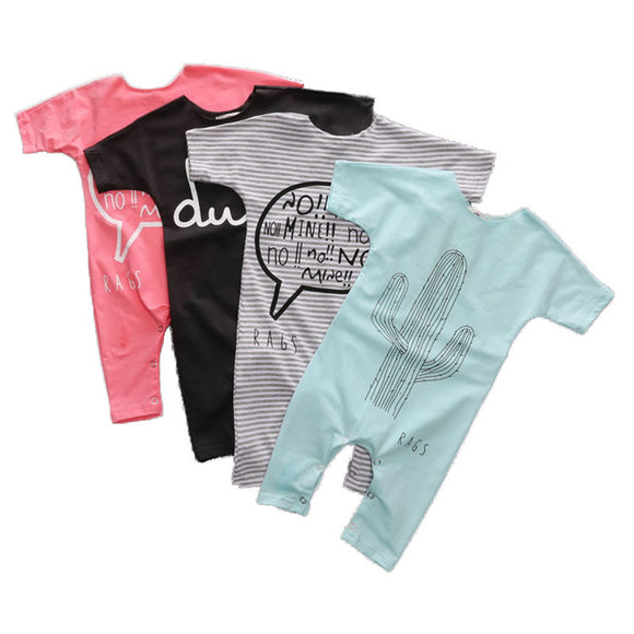 Baby Rompers Summer Baby Boy Clothes and Girls Clothing Sets
